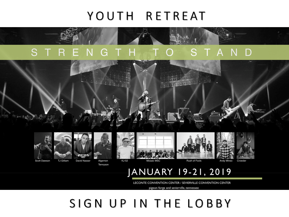 """Youth Retreat """"Strength to Stand"""""""